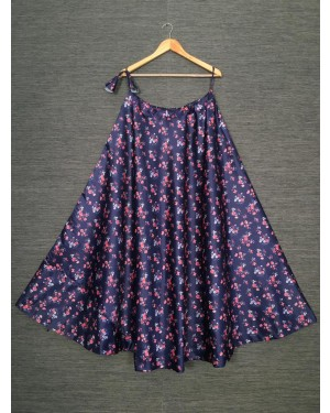 Multi color printed daily wear skirt